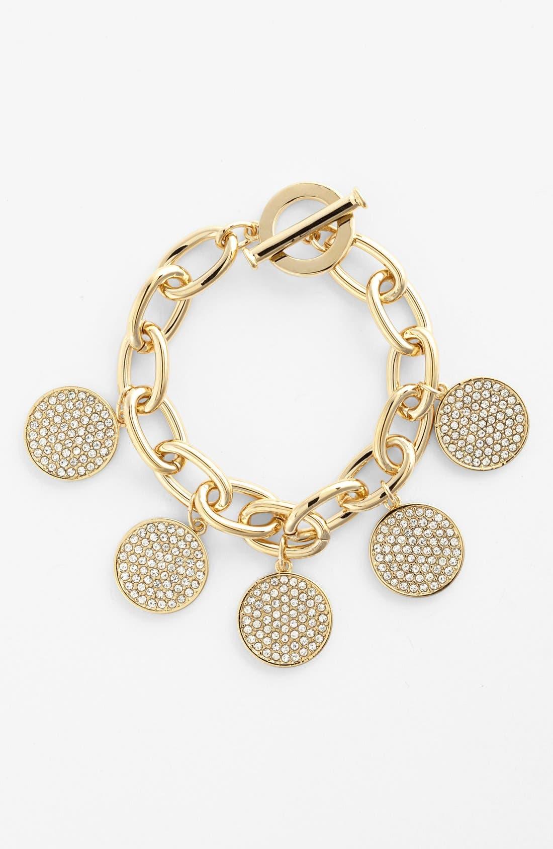 Main Image - Lauren Ralph Lauren Pavé Disc Chain Bracelet