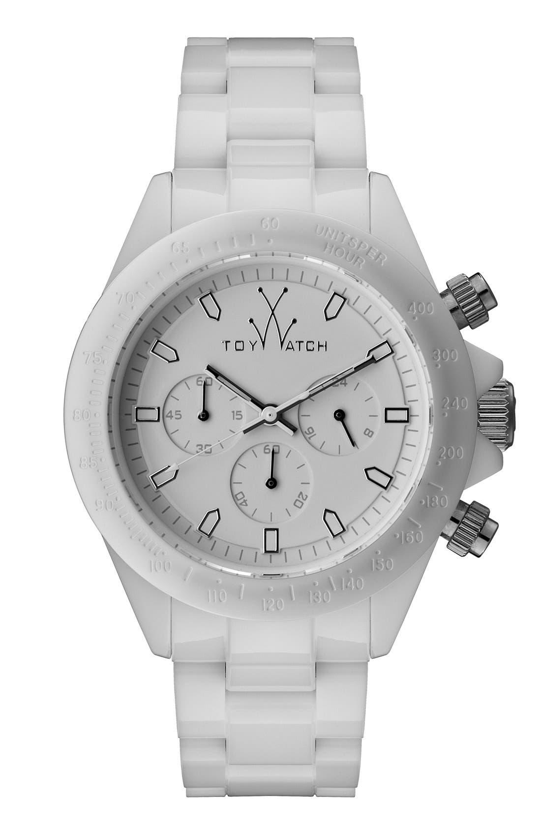 Main Image - TOYWATCH 'Monochrome Chrono' Bracelet Watch, 41mm