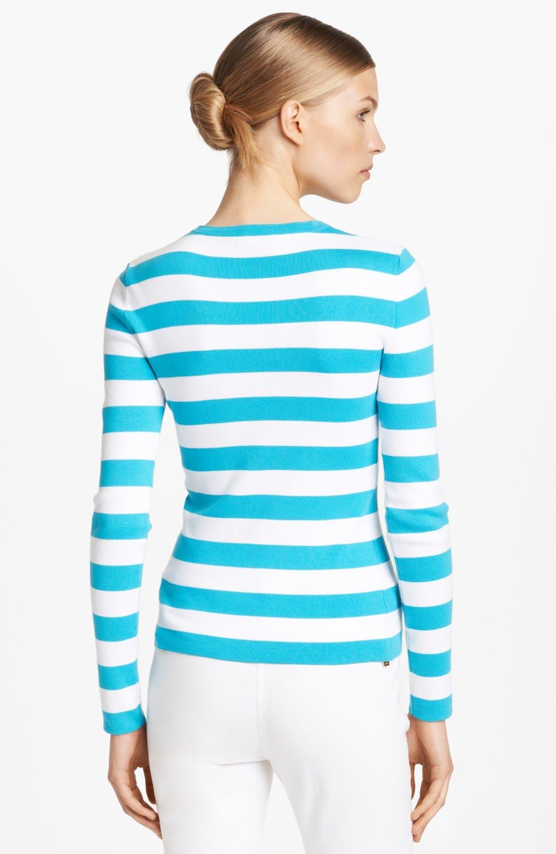 Alternate Image 2  - Michael Kors Stripe Cotton Sweater