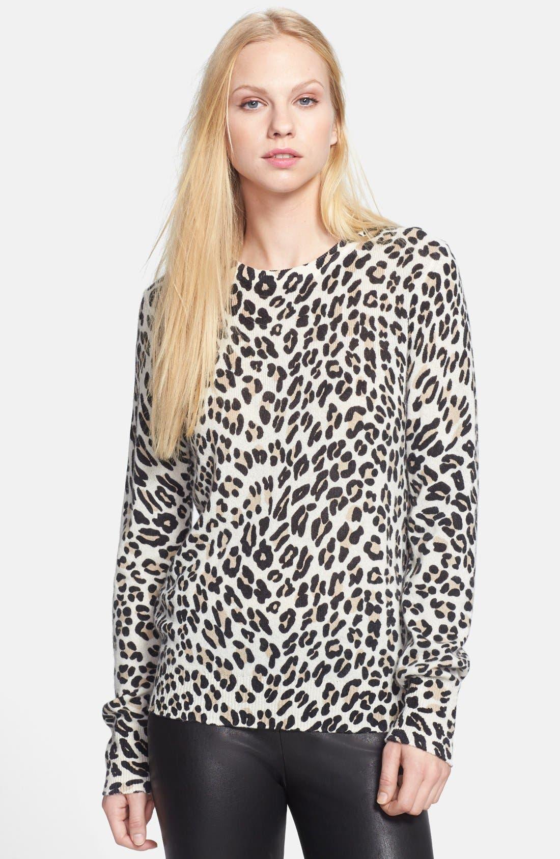 Alternate Image 1 Selected - Equipment 'Shane' Leopard Spot Cashmere Sweater