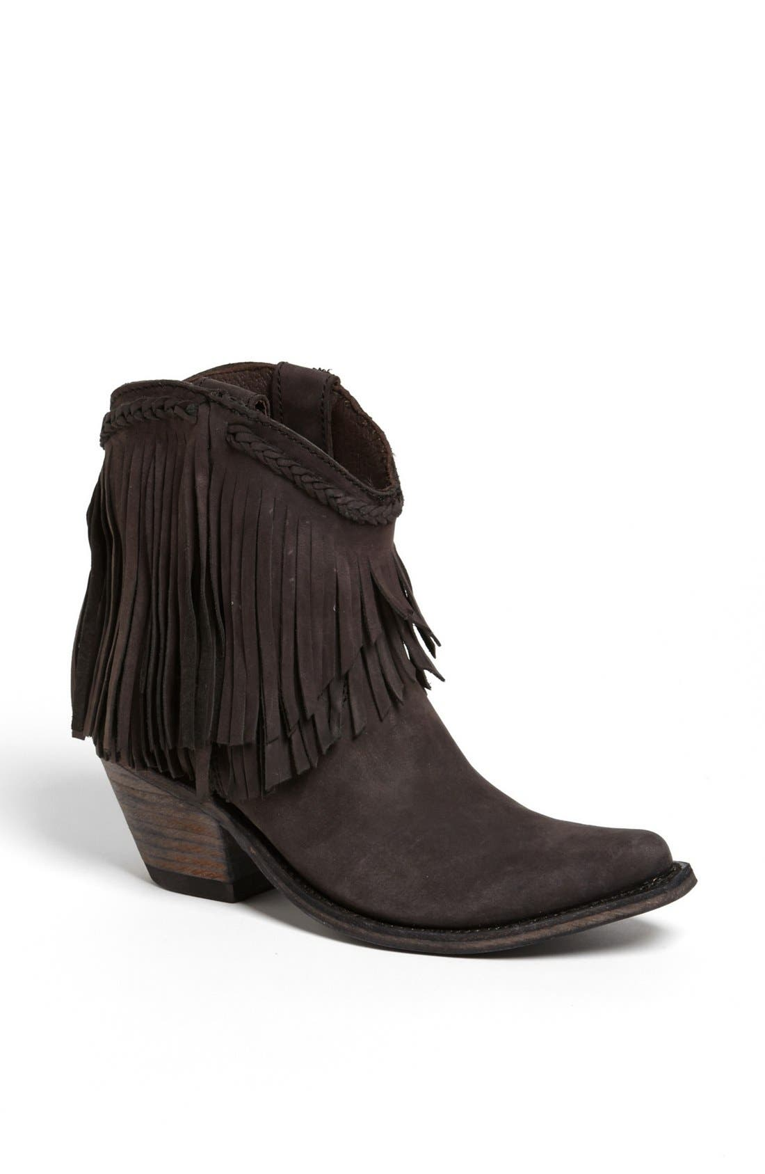 Alternate Image 1 Selected - Liberty Black Fringed Short Boot