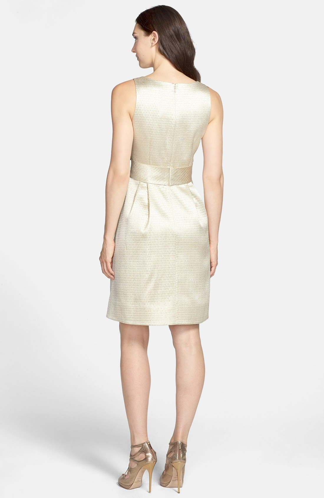 Alternate Image 2  - Eliza J Side Bow Jacquard Sheath Dress