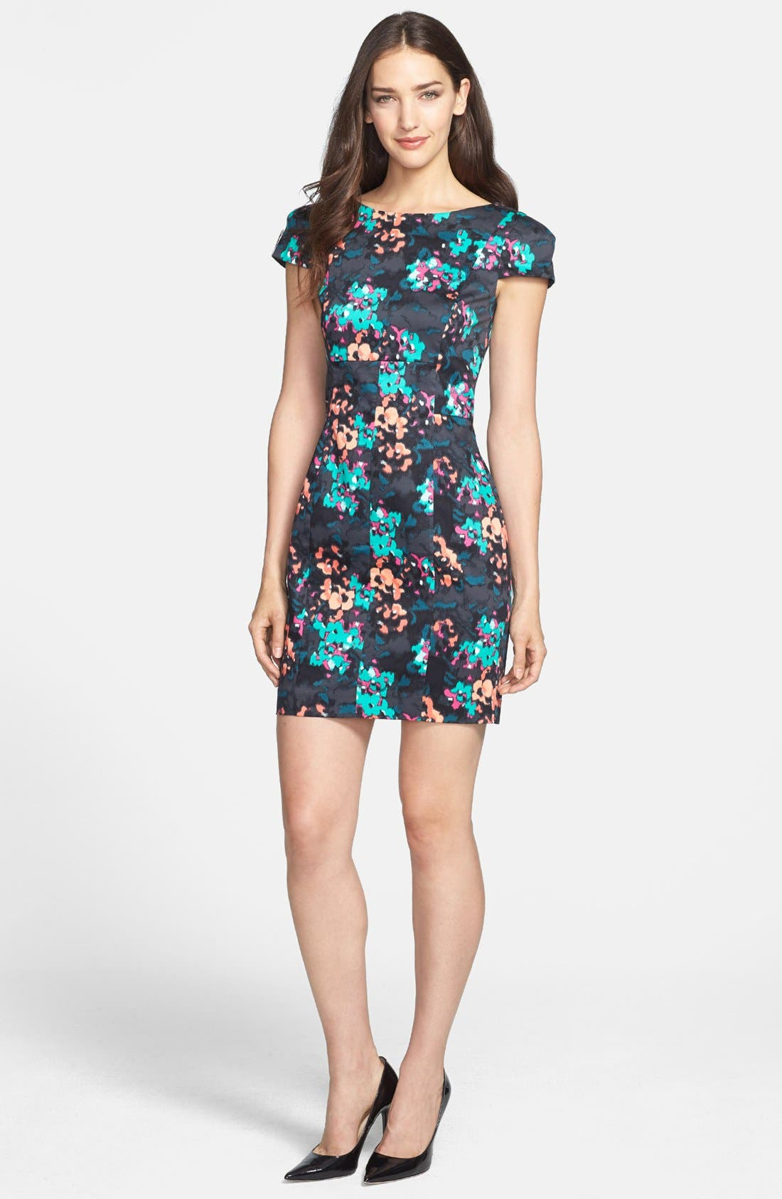 Alternate Image 1 Selected - French Connection Print Stretch Cotton Sheath Dress