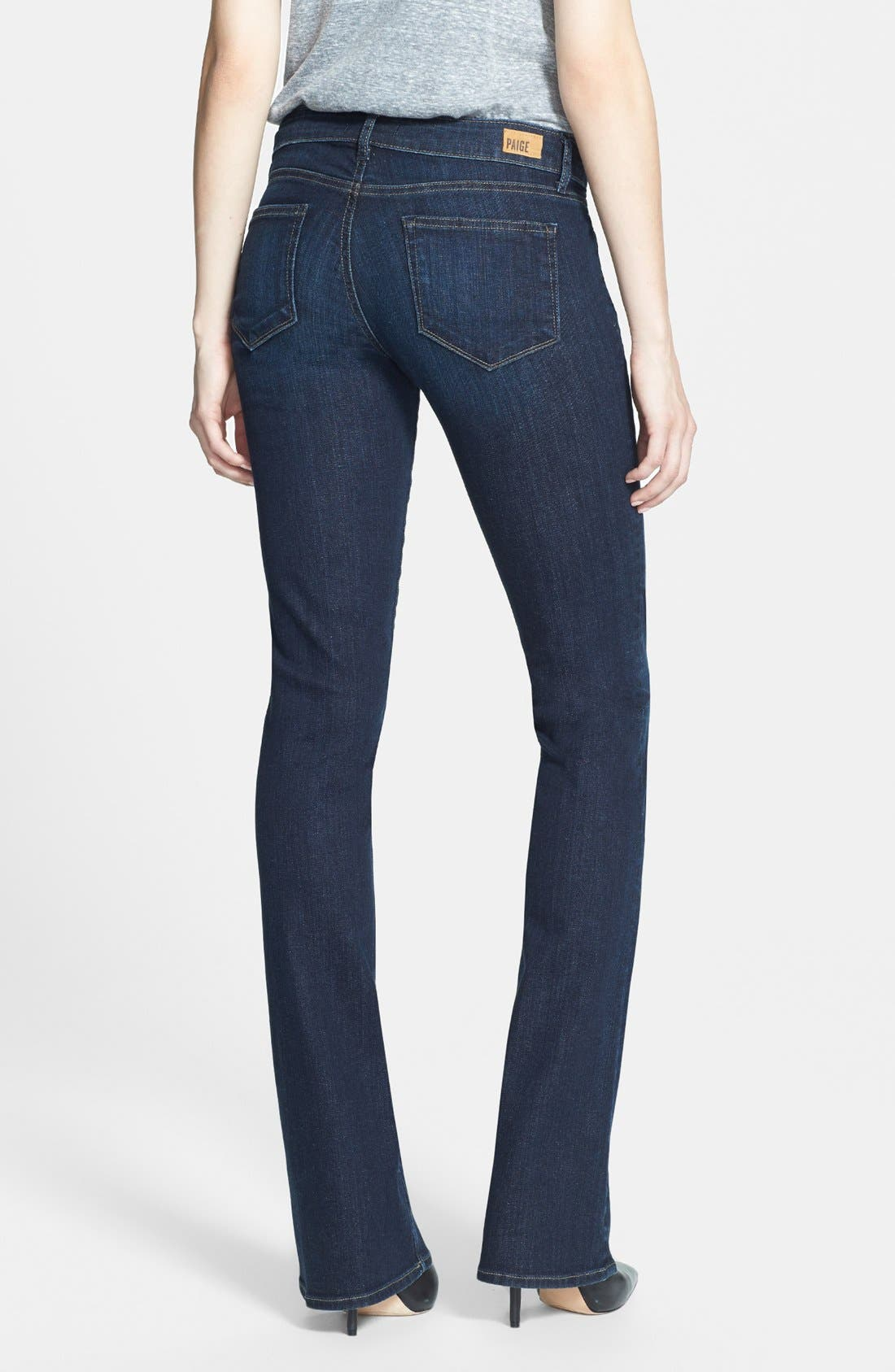 Alternate Image 2  - Paige Denim 'Manhattan' Baby Bootcut Jeans (Trinity)