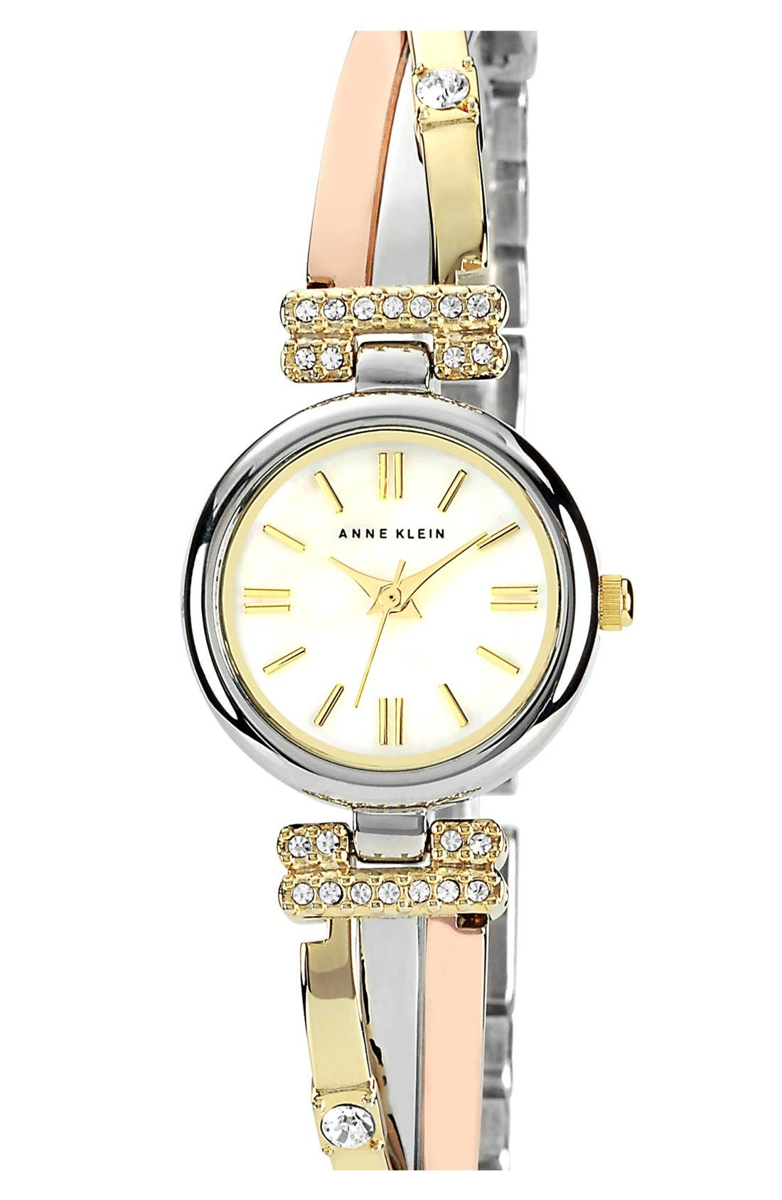 Alternate Image 1 Selected - Anne Klein Round Bangle Watch