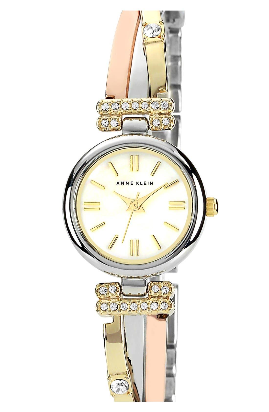Main Image - Anne Klein Round Bangle Watch