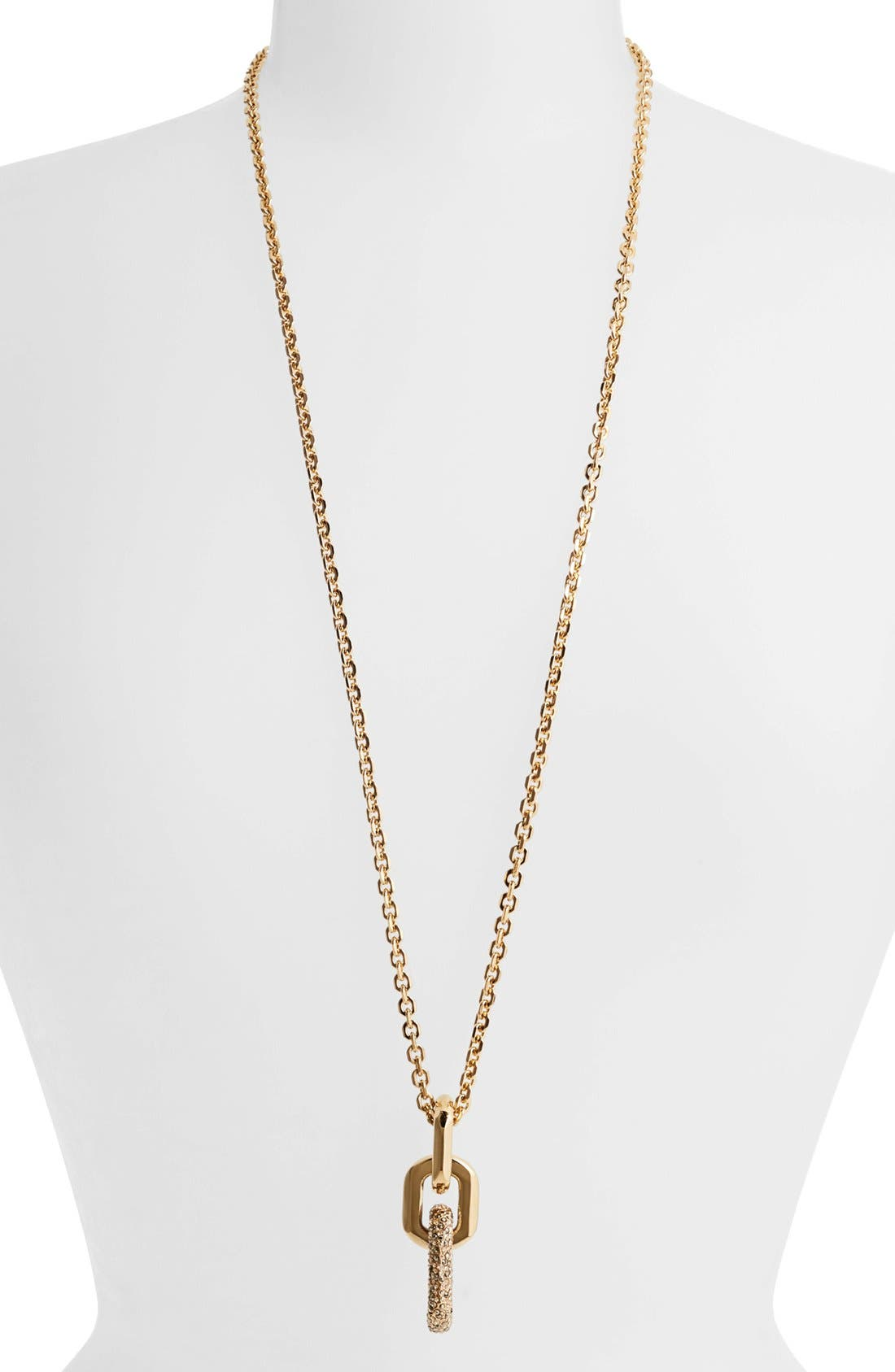 Main Image - St. John Collection Pavé Crystal Chain Link Pendant Necklace