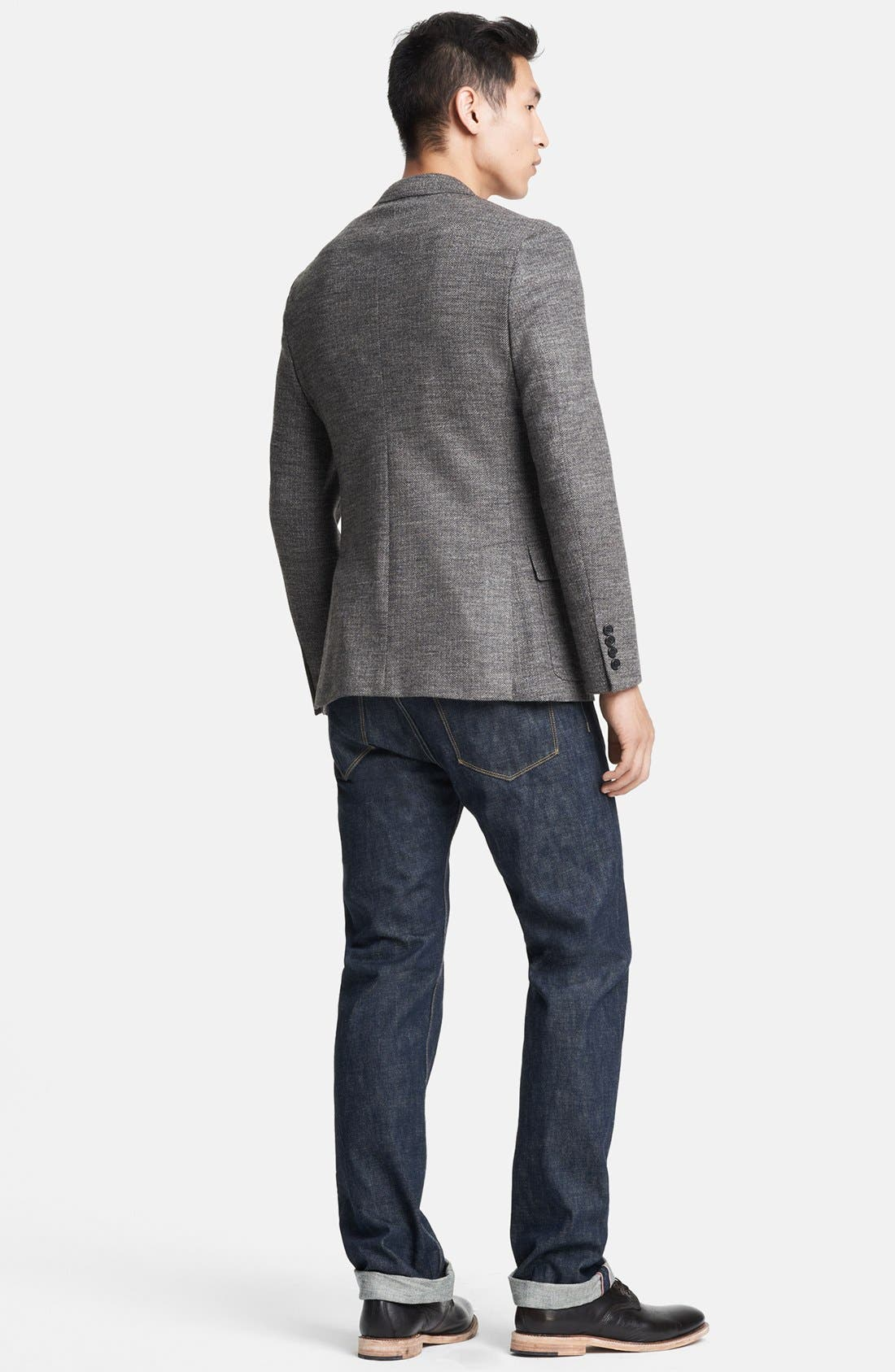 Alternate Image 5  - Todd Snyder Grey Wool Herringbone Blazer
