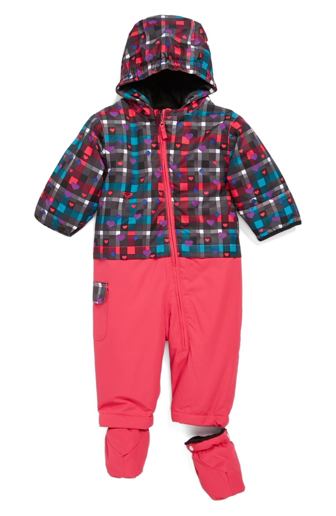 Main Image - Roxy 'Sweet Pea' Snow Suit (Baby Girls)