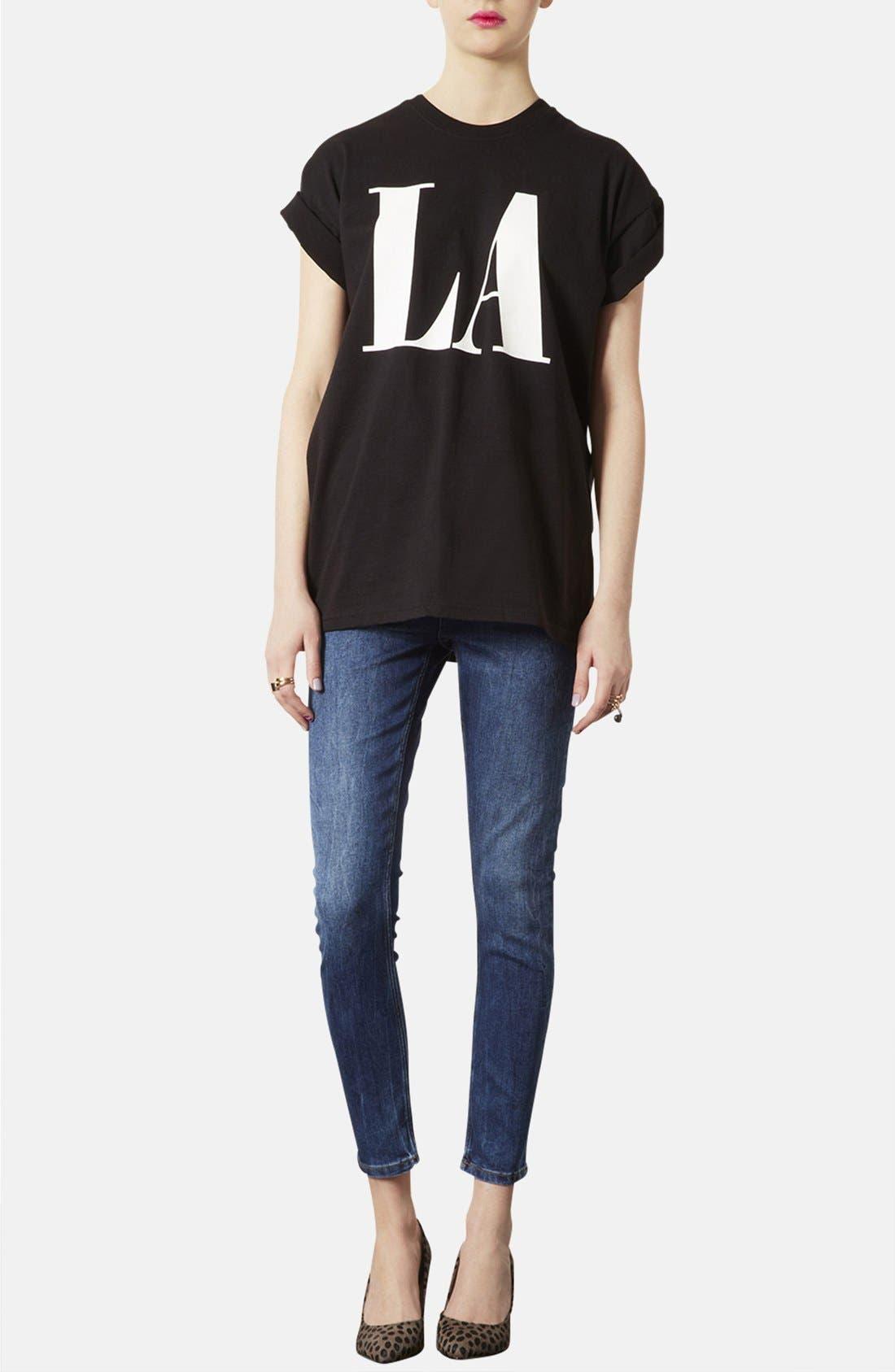 Alternate Image 4  - Topshop 'Jamie' Skinny Jeans (Regular, Short & Long)