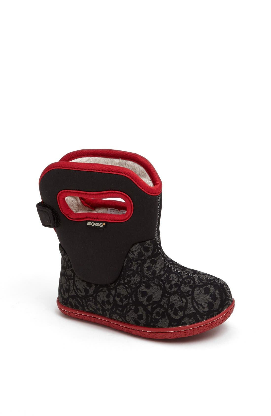 Main Image - Bogs 'Baby Bogs - Skulls' Waterproof Boot (Baby, Walker & Toddler)