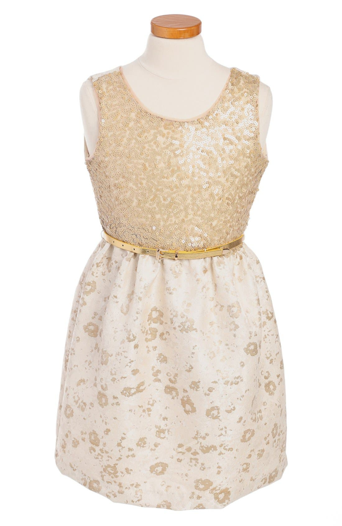 Main Image - BLUSH by Us Angels Sleeveless Dress (Big Girls)