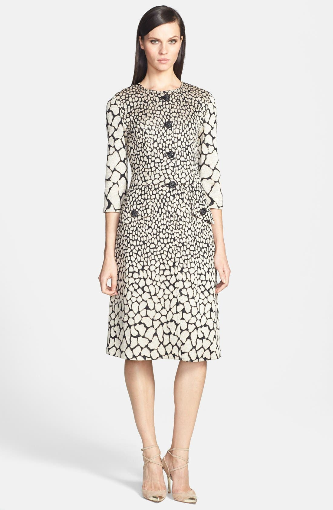Alternate Image 2  - St. John Collection Animal Jacquard Knit Dress