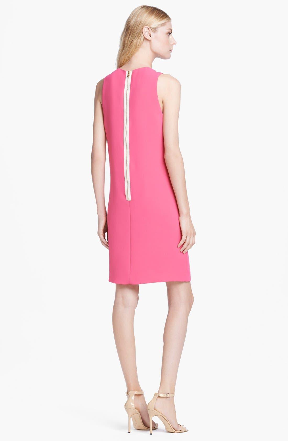 Alternate Image 2  - L'AGENCE Sleeveless Drape Front Dress