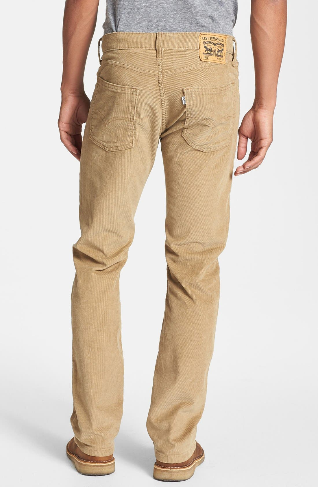 Alternate Image 2  - Levi's® '513™' Slim Straight Leg Corduroy Pants
