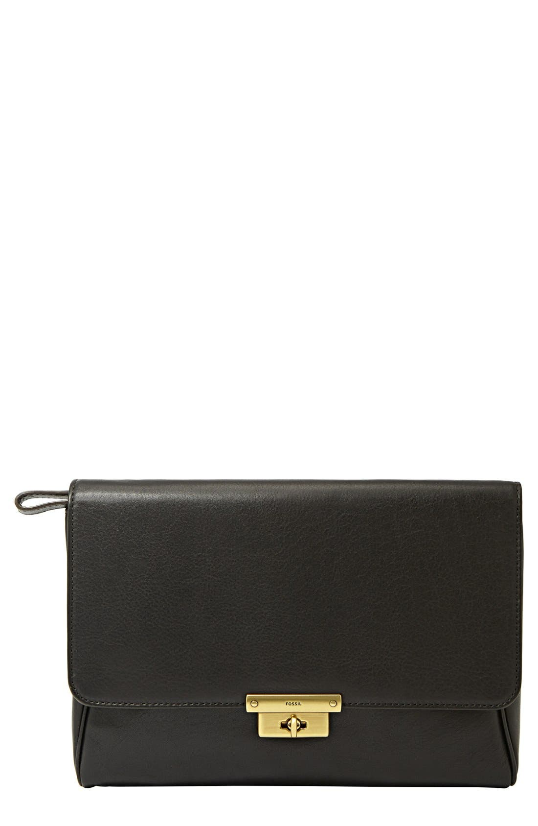 Alternate Image 1 Selected - Fossil 'Memoir' Leather Clutch