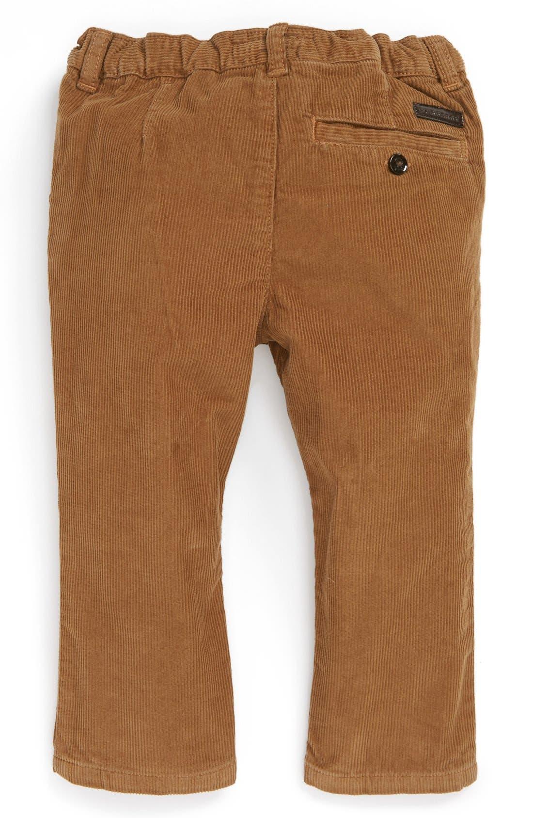 Alternate Image 2  - Burberry Corduroy Pants (Baby Boys)