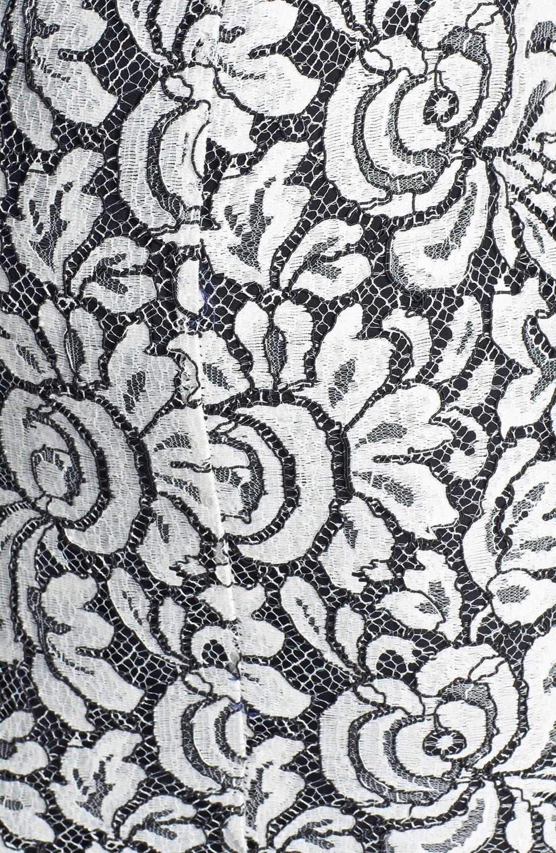 Alternate Image 5  - St. John Collection Scallop Hem Graphic Lace Pencil Skirt