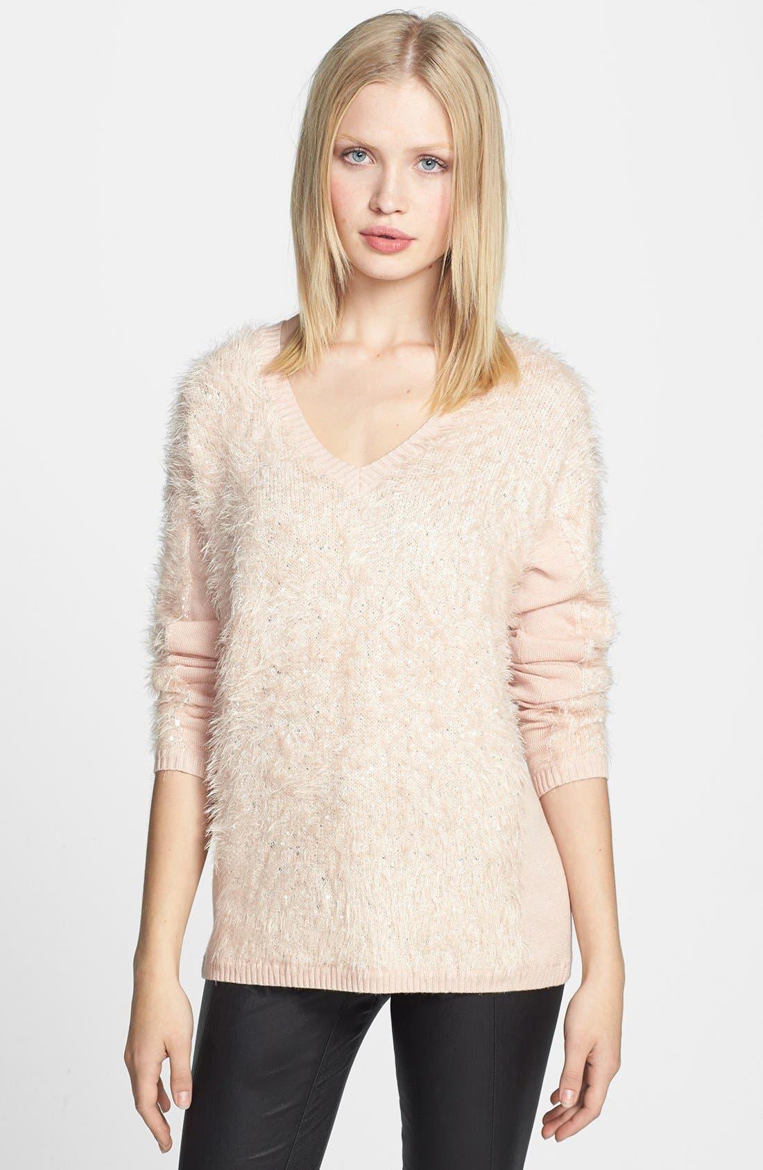 Alternate Image 1 Selected - Trouvé Textured V-Neck Sweater