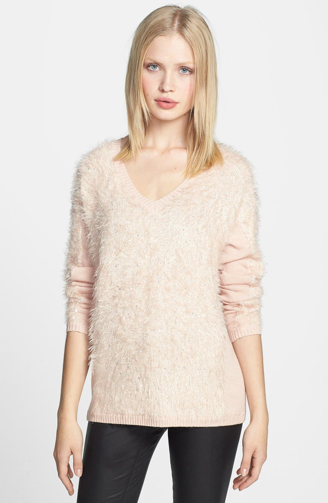 Main Image - Trouvé Textured V-Neck Sweater