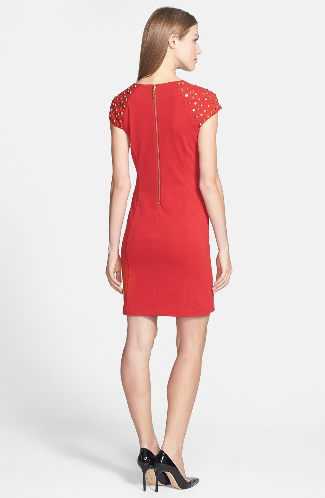 Alternate Image 2  - MICHAEL Michael Kors Studded Sleeve Ponte Dress