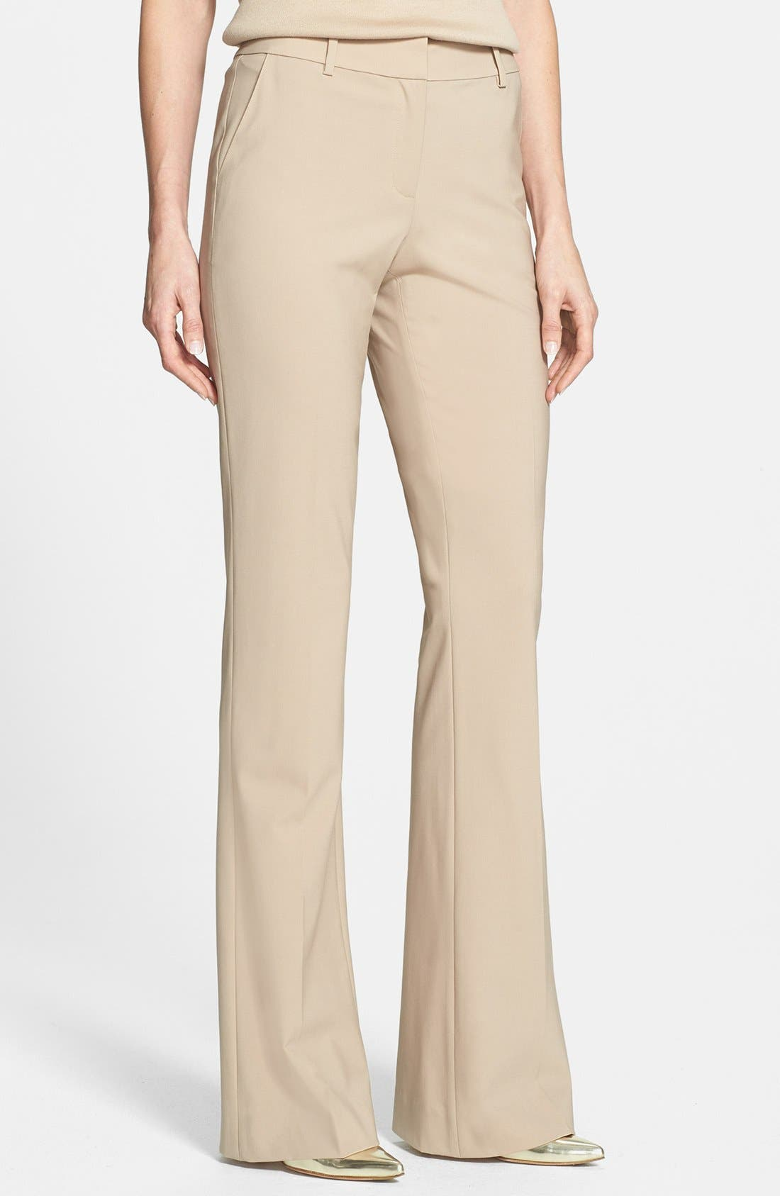 Main Image - St. John Collection 'Annabel' Narrow Bootcut Tropical Wool Pants