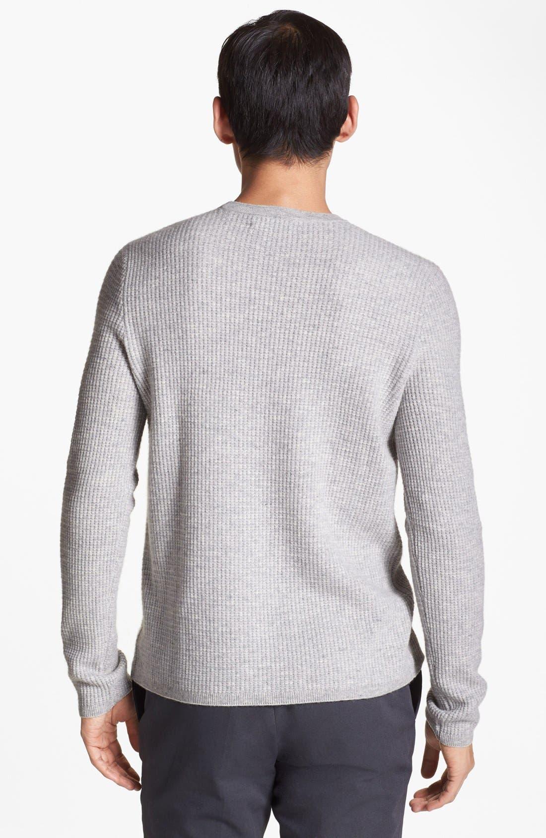 Alternate Image 2  - Vince Wool & Cashmere Crewneck Sweater