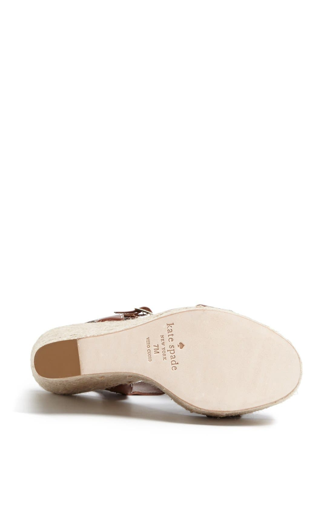Alternate Image 4  - kate spade new york 'luxe' platform espadrille sandal