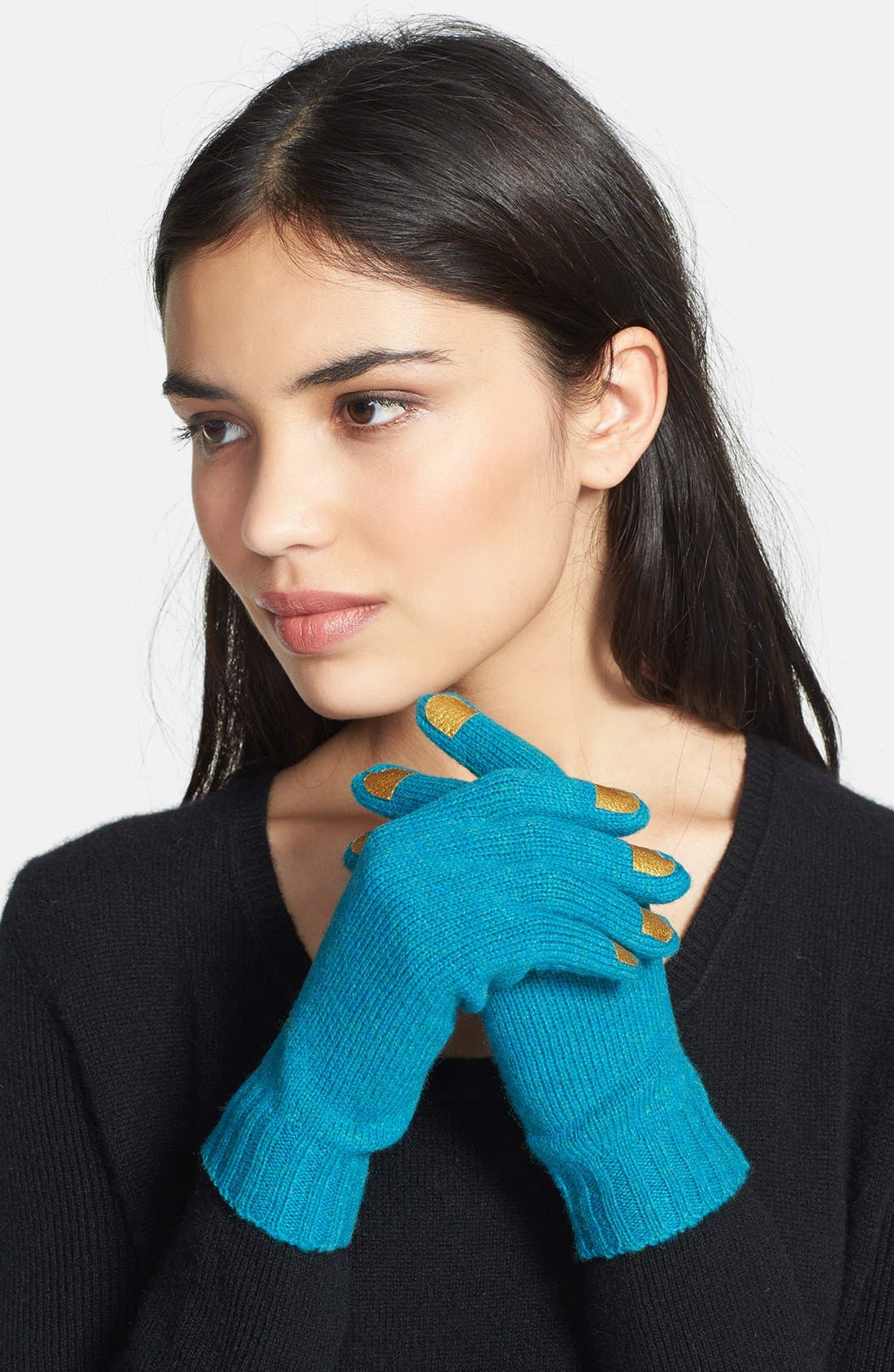 Alternate Image 1 Selected - MARC BY MARC JACOBS Merino Wool Gloves