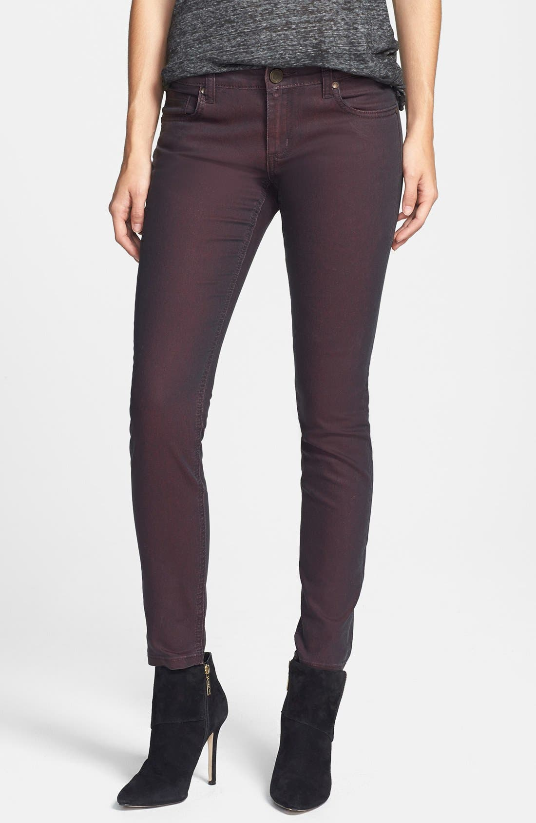 Main Image - edyson Coated Skinny Jeans