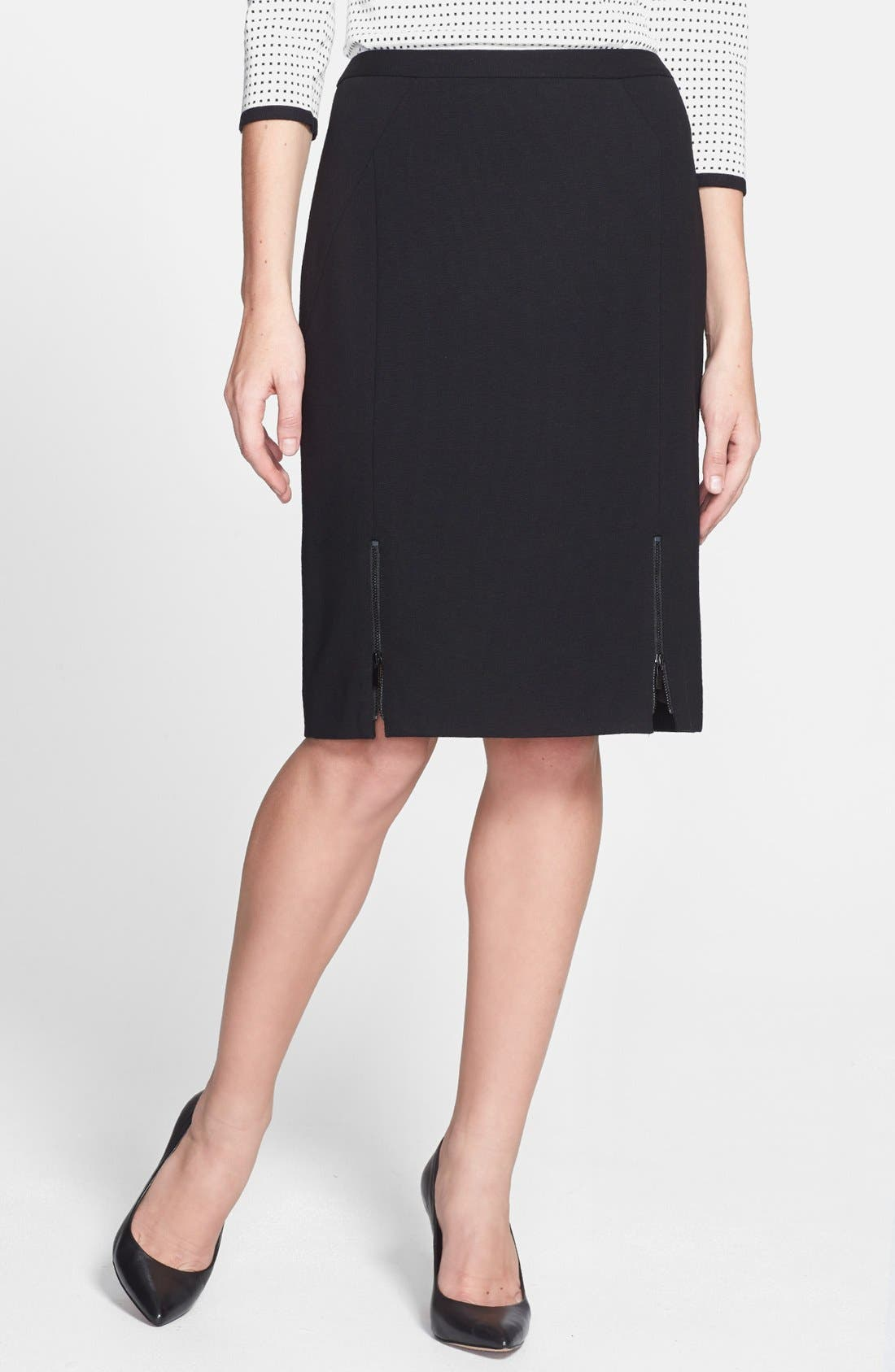Alternate Image 1 Selected - Classiques Entier® Double Knit Ponte Pencil Skirt