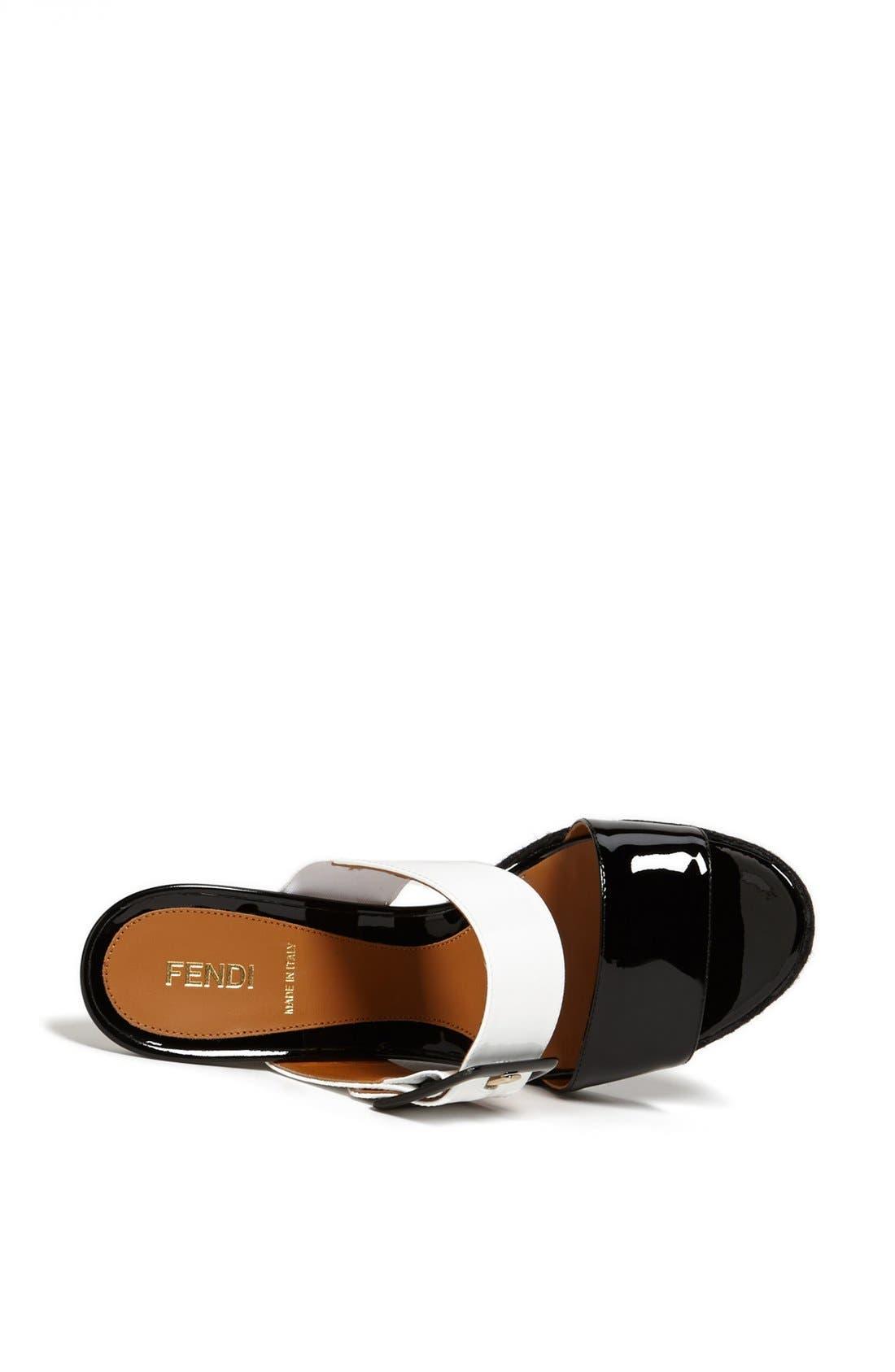 Alternate Image 3  - Fendi 'Vernis' Wedge Sandal