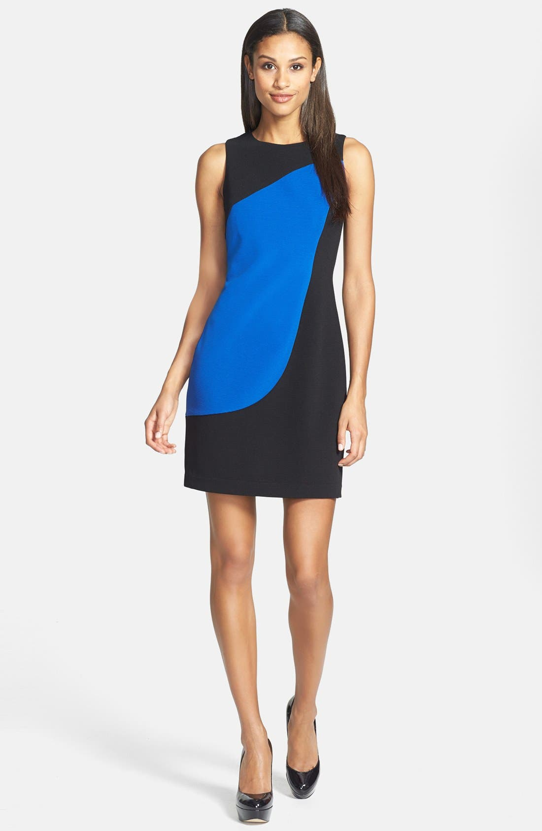 Alternate Image 1 Selected - Marc New York by Andrew Marc Colorblock Ponte Sheath Dress