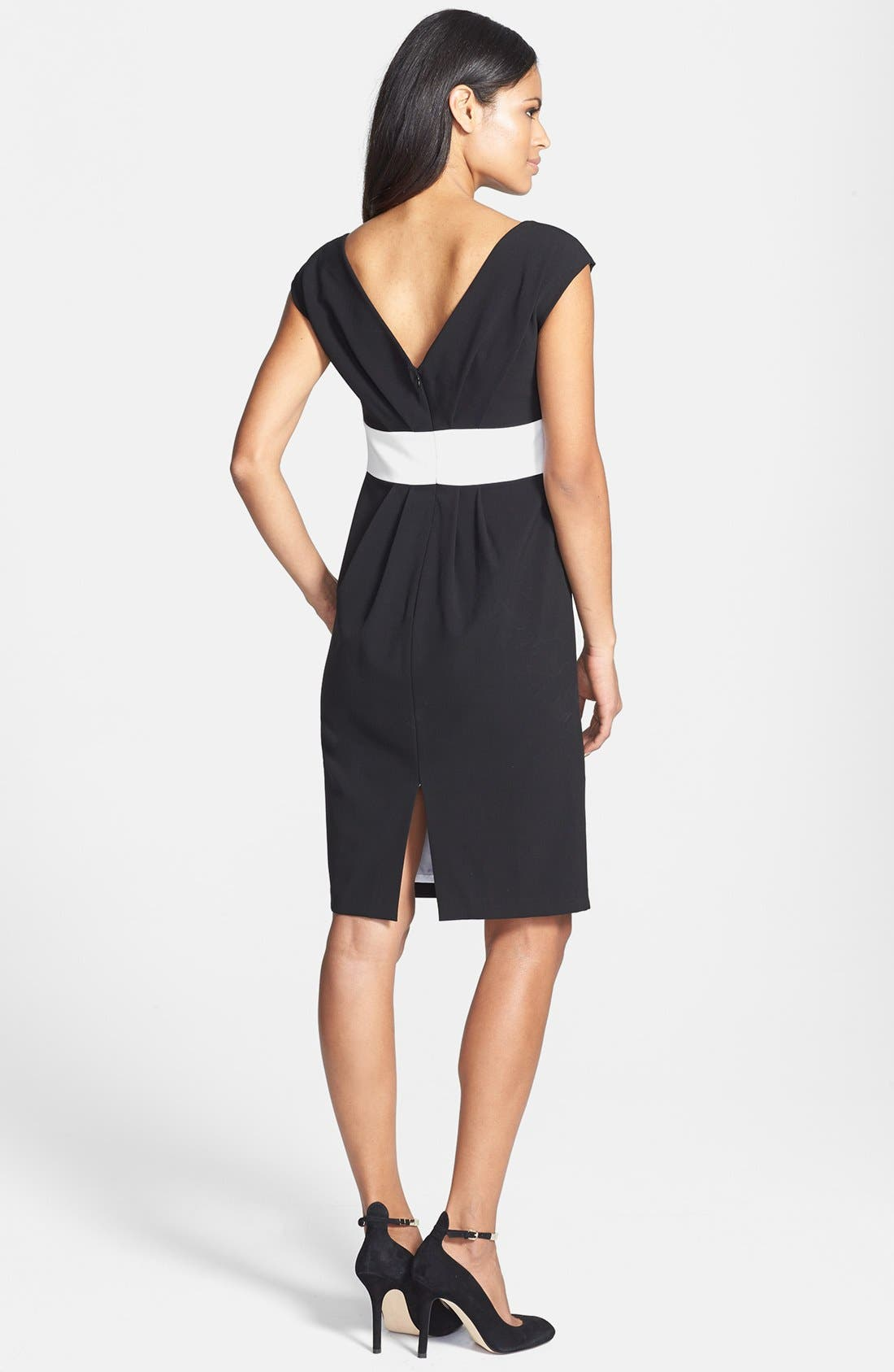 Alternate Image 2  - Isaac Mizrahi New York Back Pleated Shift Dress