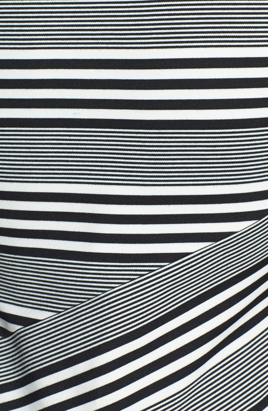 Alternate Image 4  - Felicity & Coco Stripe Ponte Midi Dress (Nordstrom Exclusive)