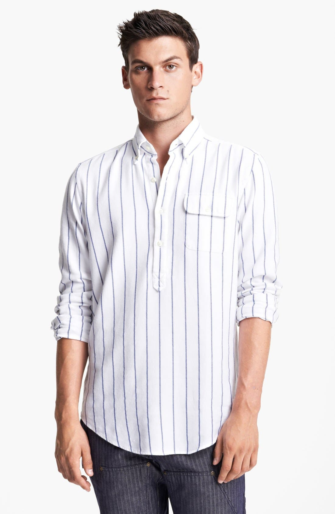 Alternate Image 1 Selected - Gant by Michael Bastian Striped Pullover Flannel