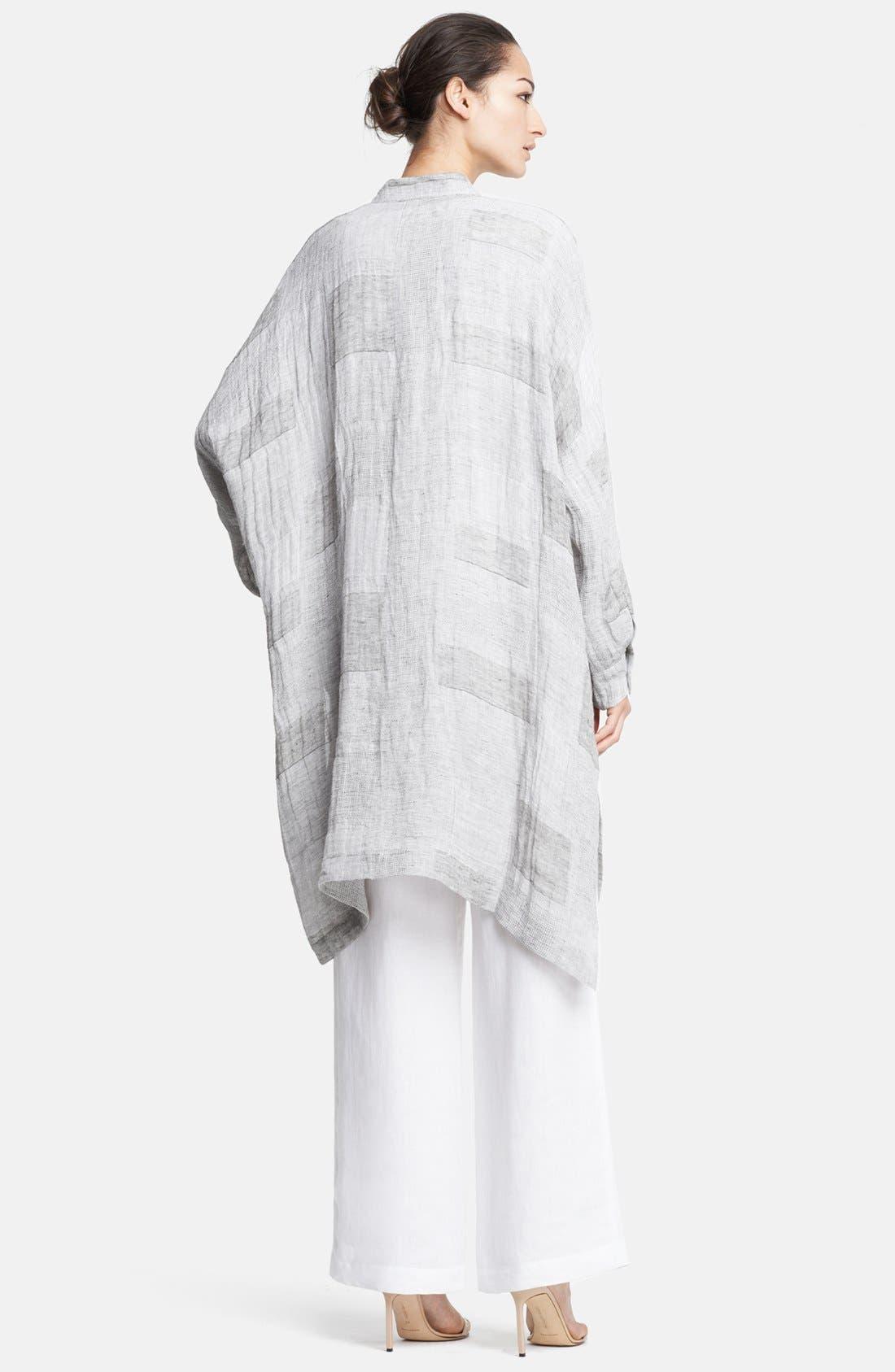 Alternate Image 2  - eskandar Patchwork Linen Gauze Shirt