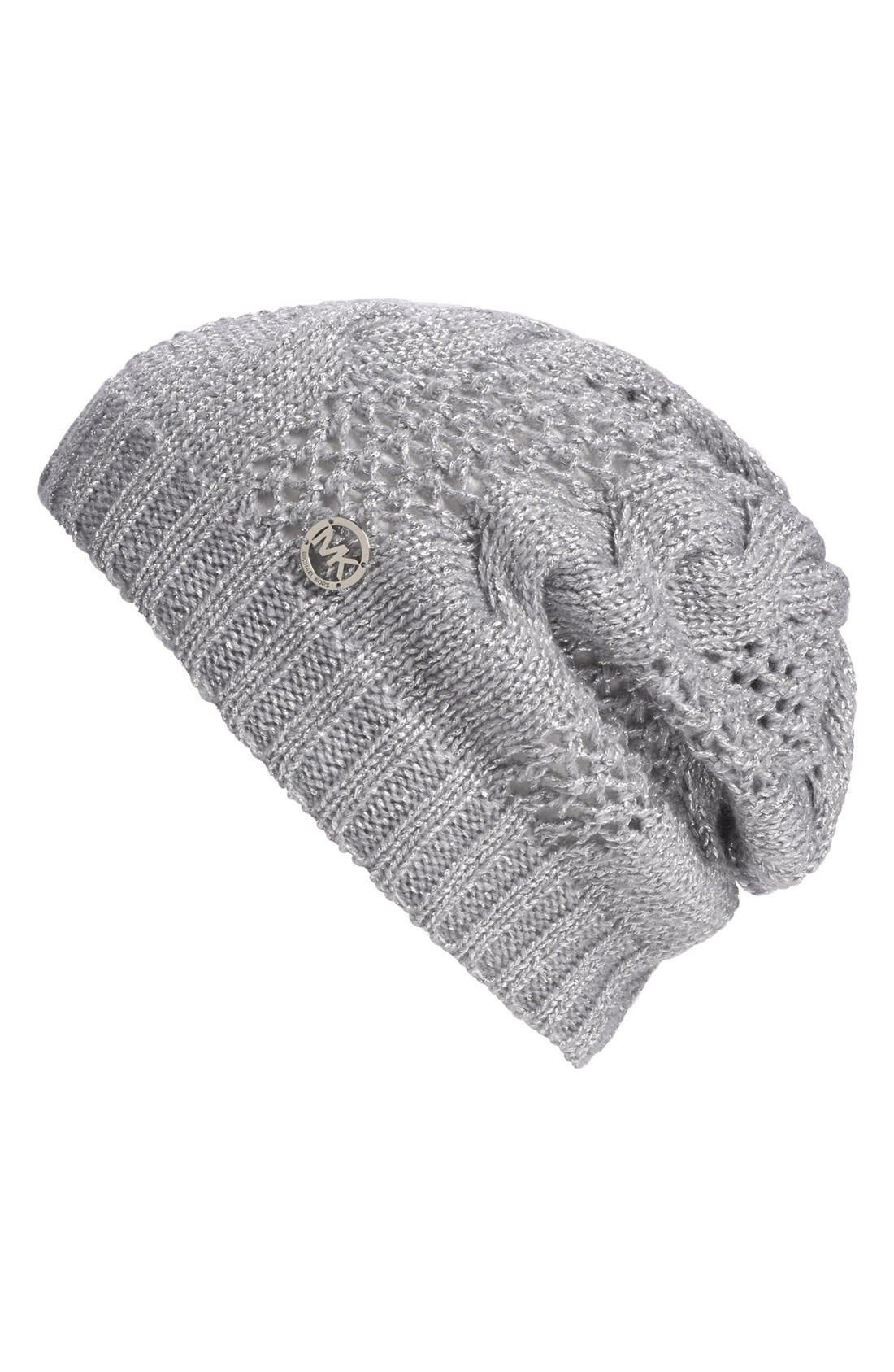 Alternate Image 1 Selected - MICHAEL Michael Kors Metallic Knit Beanie