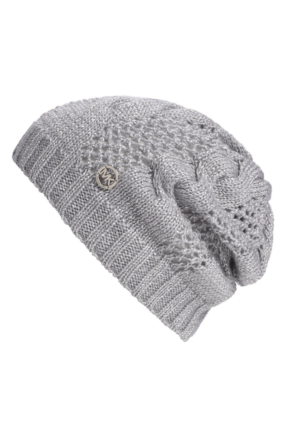 Main Image - MICHAEL Michael Kors Metallic Knit Beanie