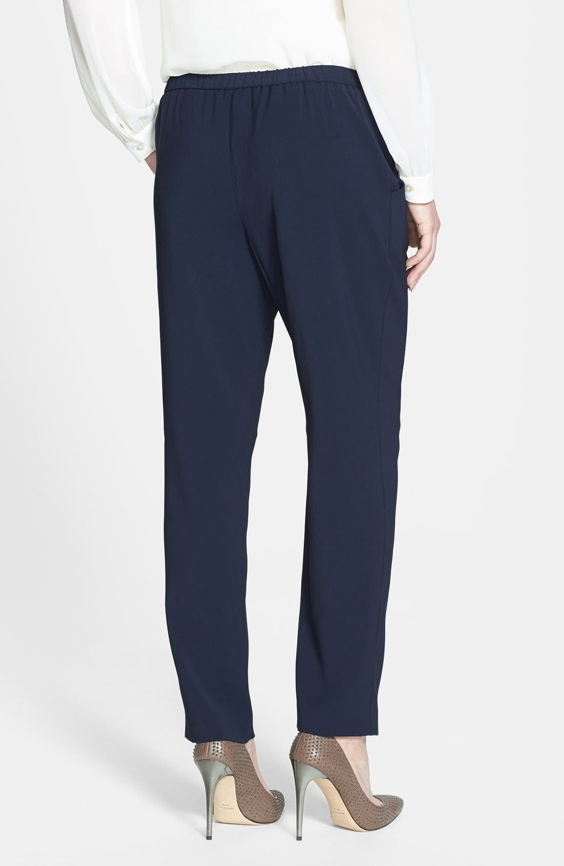 Alternate Image 2  - T Tahari 'Loren' Drawstring Waist Stretch Twill Pants