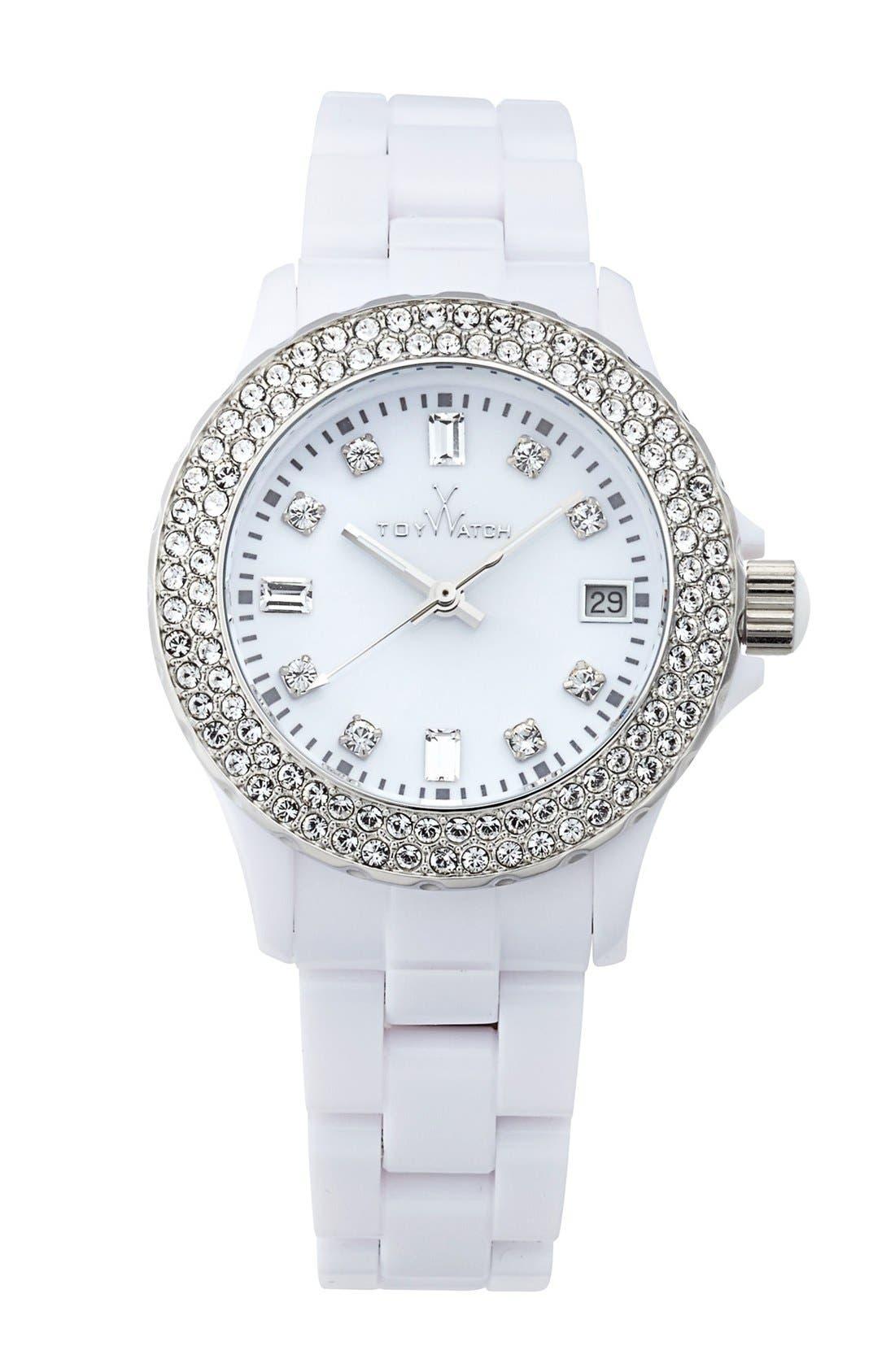 Main Image - TOYWATCH 'Plasteramic' Bracelet Watch, 35mm