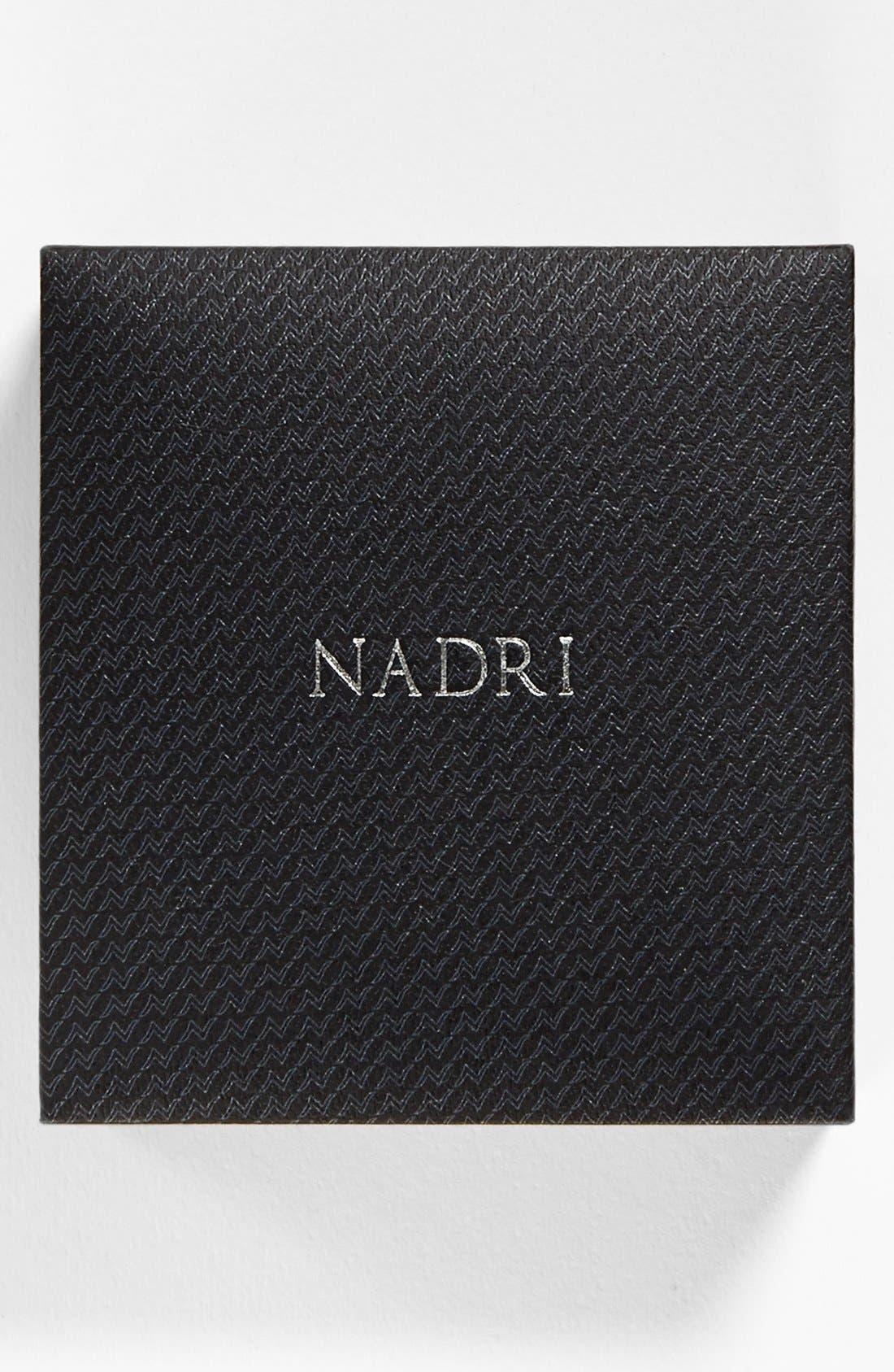 Alternate Image 2  - Nadri Boxed Bezel Framed Pendant Necklace