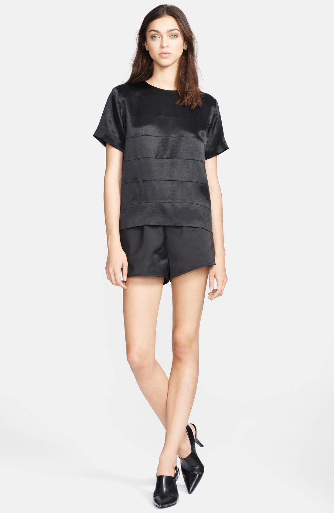 Alternate Image 3  - T by Alexander Wang Satin Track Shorts