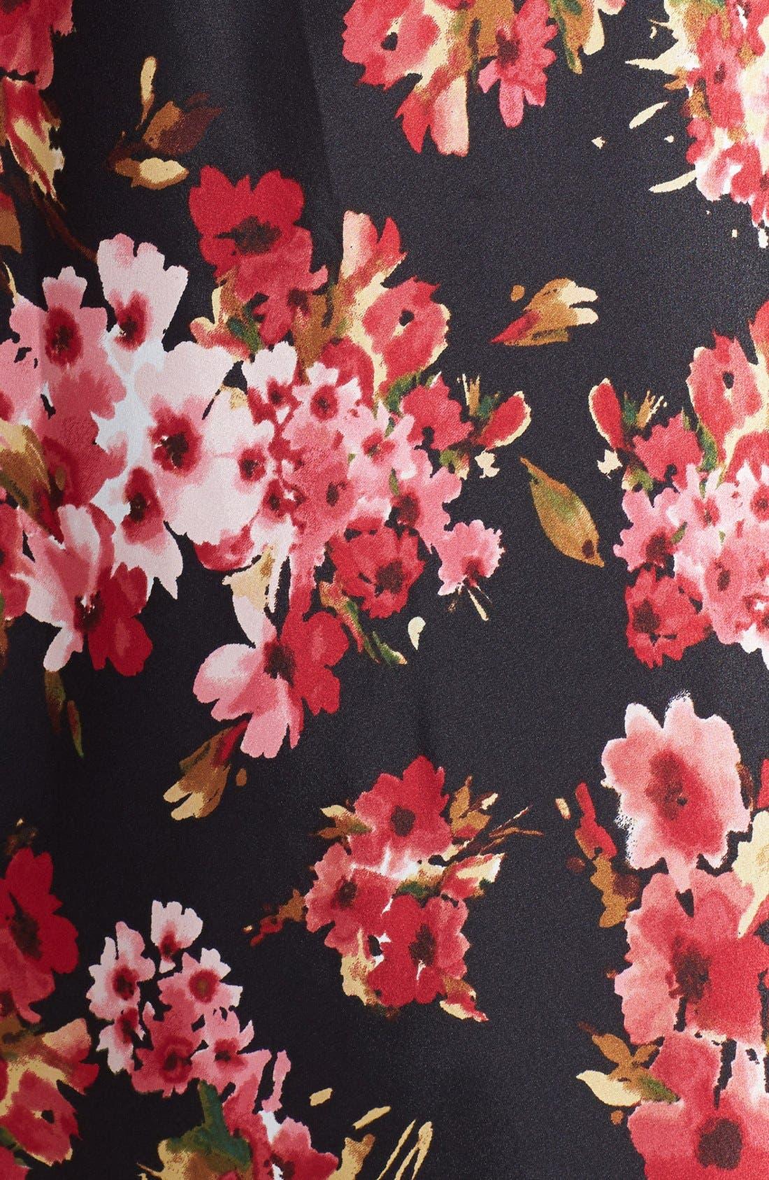 Alternate Image 3  - Oscar de la Renta Sleepwear 'Holiday Bouquet' Long Nightgown (Plus Size)