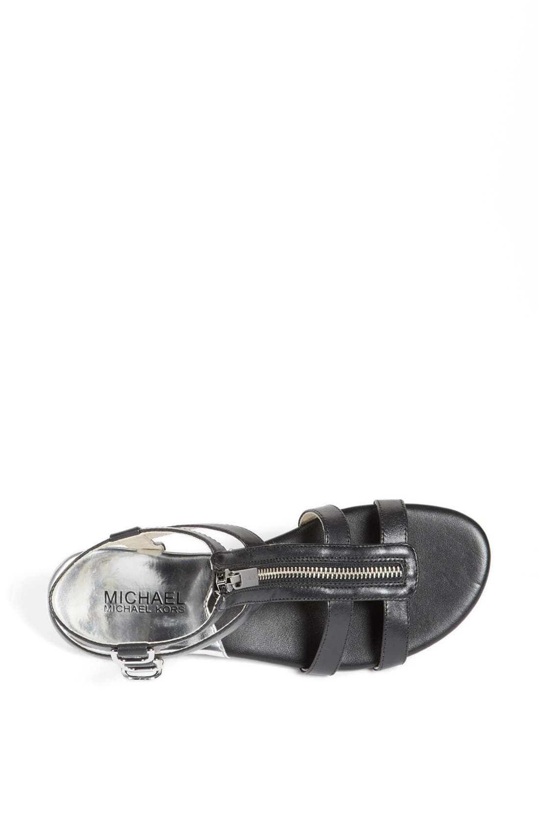Alternate Image 3  - MICHAEL Michael Kors 'Kennedy' Flat Leather Gladiator Sandal