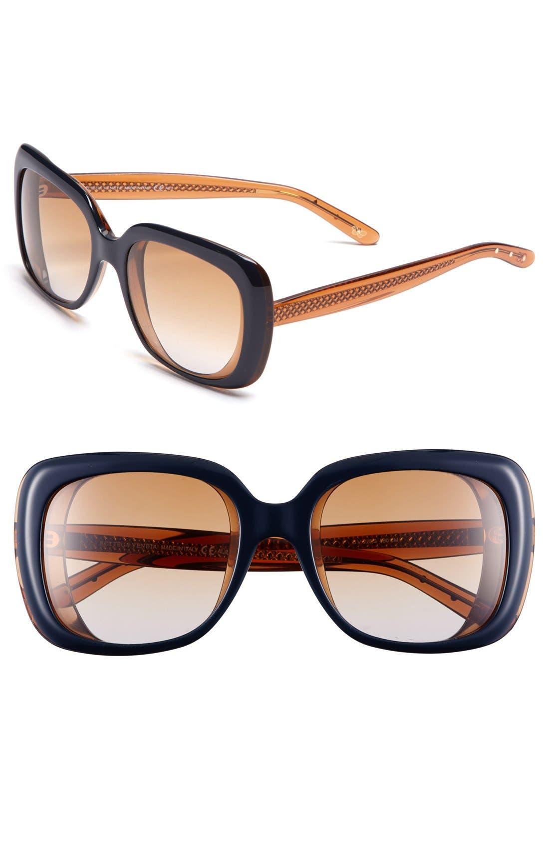 Main Image - Bottega Veneta 56mm Oversized Sunglasses