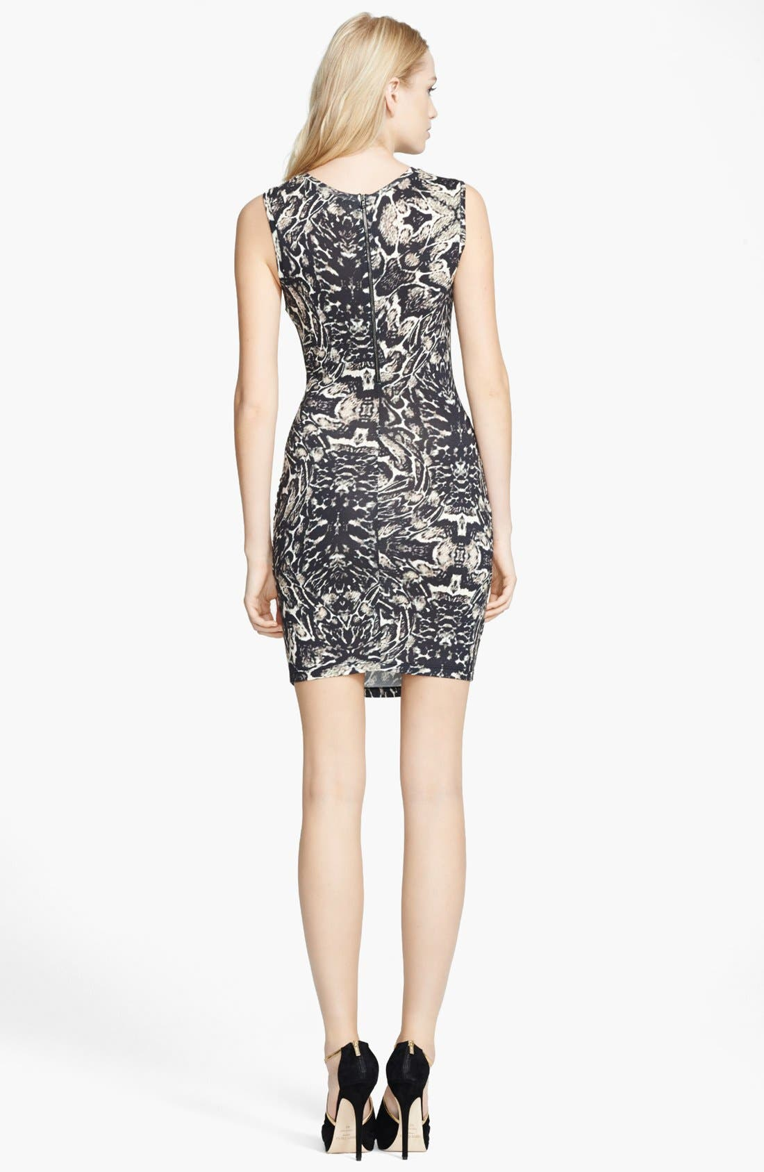 Alternate Image 2  - Haute Hippie Snake Print Sleeveless Dress