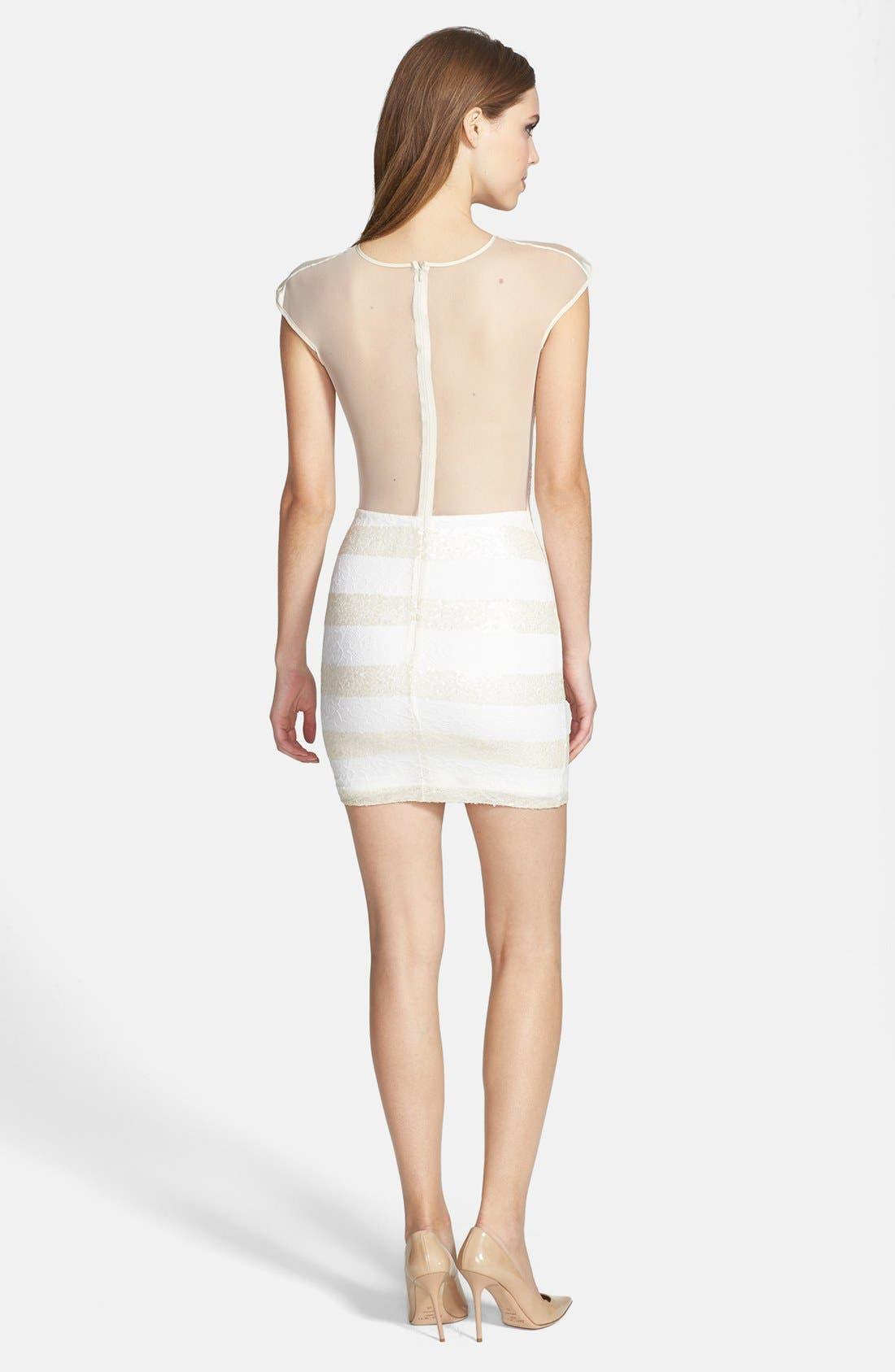 Alternate Image 2  - Dress the Population 'Aubrey' Sequin Stripe Lace Body-Con Dress