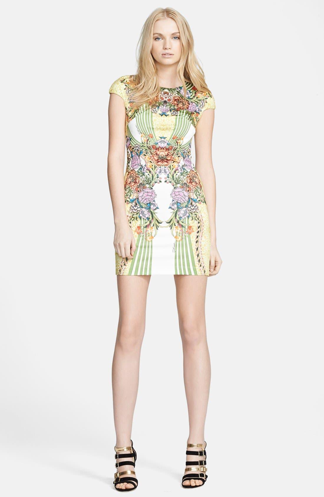 Alternate Image 1 Selected - Just Cavalli Print Ponte Knit Sheath Dress