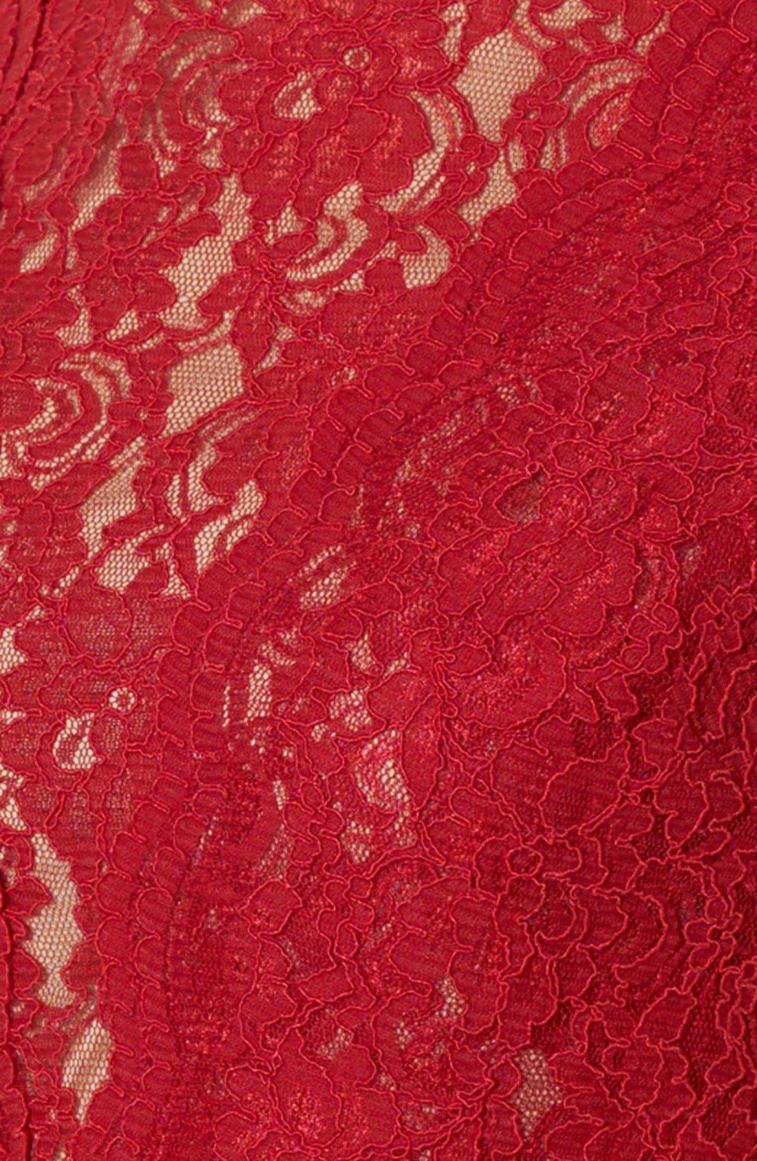 Alternate Image 3  - Lauren Ralph Lauren Lace Gown (Regular & Petite)